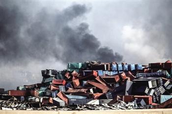 天津港爆炸地图
